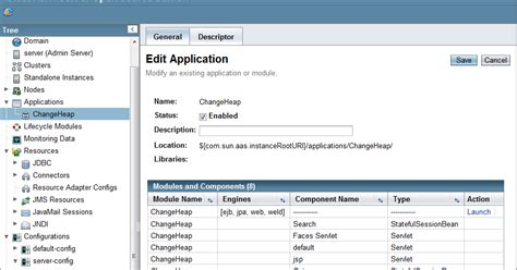 glassfish admin console enable java development in the jisc enable project