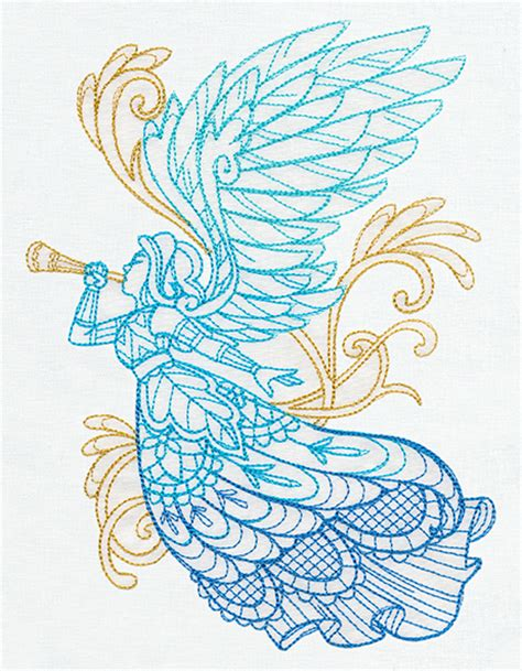 embroidery design angel delicate december angel urban threads unique and