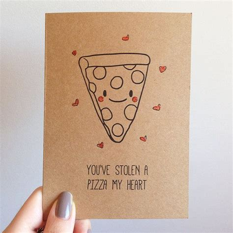 valentines day puns pizza pun card italian takeout