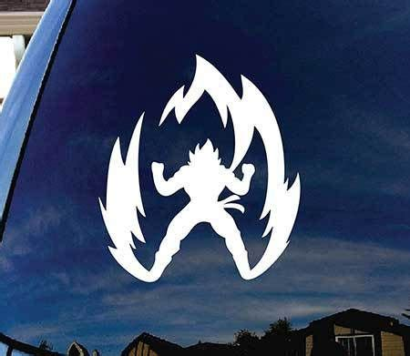 Z Car Stickers by Goku Z Car Sticker With 10 Available Colors