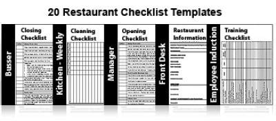 restaurant operations manual template free 20 restaurant checklists restaurant management for