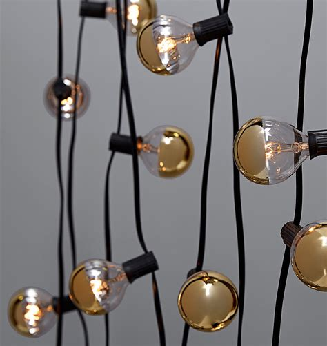 20 Gold Bulb String Lights Rejuvenation Gold String Lights