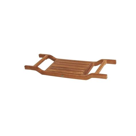 teak bathtub caddy knape vogt 14 25 in x 19 5 in x 22 25 in pot and pan