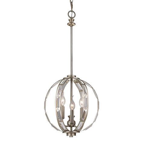 Antique Silver Pendant Lights Emporium 3 Light Antique Silver Leaf Pendant 10363 Asl The Home Depot