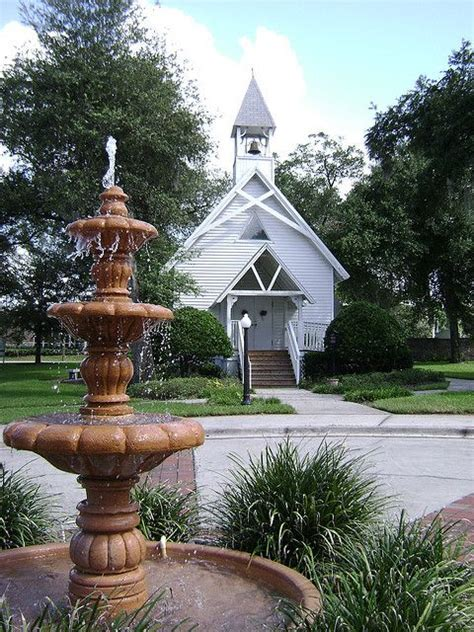 Altamonte Chapel with Fountain in 2019   COUNTRY CHURCHES