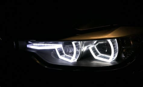 bmw headlights at bmw headlights car in sport