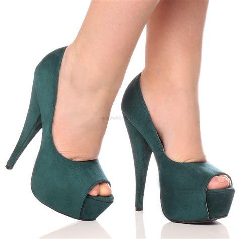 Peep Toe Stiletto Pumps womens platform pumps stiletto high heel peep toe