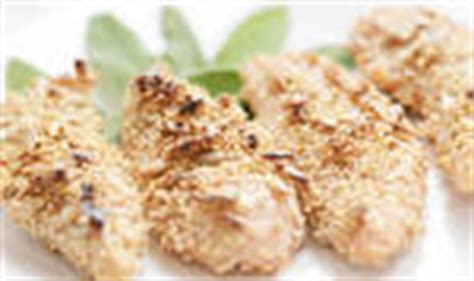 sesame and sunflower seed crusted chicken tenders recipe