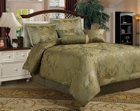 new queen 7 piece comforter set olive sage green
