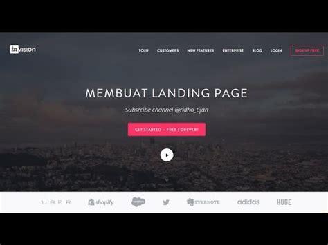 membuat website landing page membuat landing page design youtube