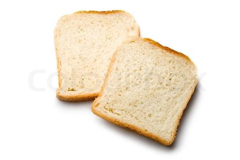 carbohydrates 1 slice bread bread slices isolated on white stock photo colourbox