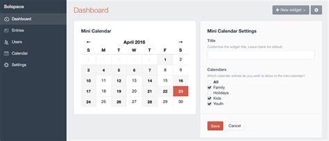 calendar widgets calendar plugin for craft cms widgets documentation