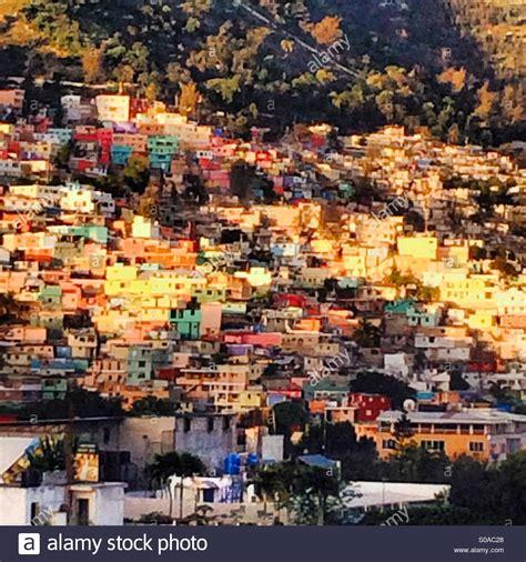 Jalousie City by Jalousie Neighborhood Of Port Au Prince Haiti Stock Photo