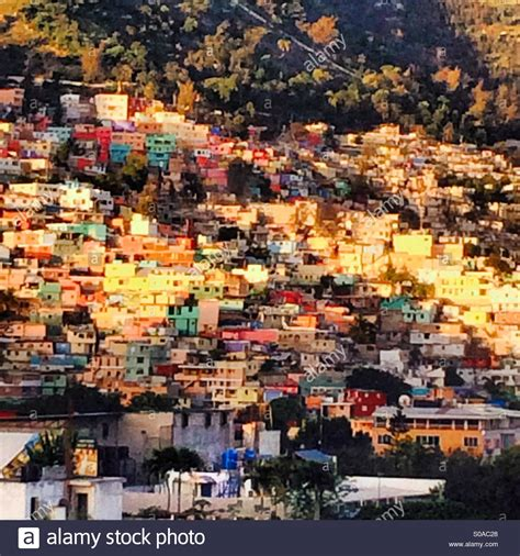 jalousie haiti jalousie neighborhood of port au prince haiti stock photo