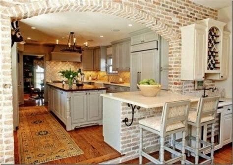 brick kitchens 25 modern kitchens and interior brick wall design ideas