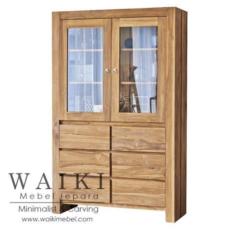 Lemari Display Jati Jepara lemari display mbakyu waiki mebel