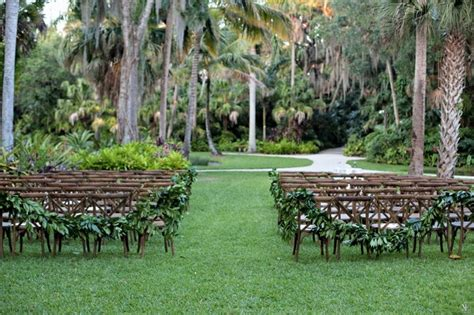 chairs garden wedding mckee botanical garden a sparkle and rustic wedding a