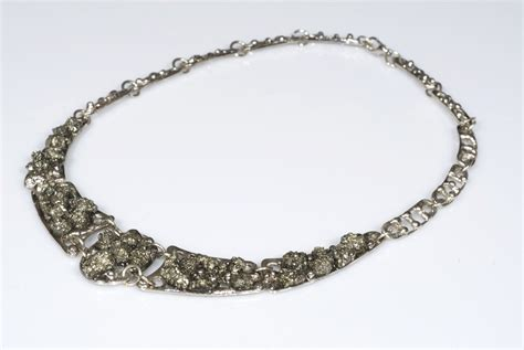 pyrite jewelry handmade necklace