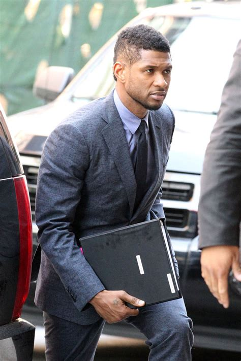 show ushers haircuts usher photos photos usher suits up in nyc zimbio