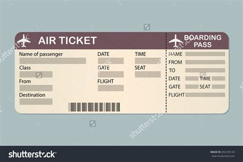 airline ticket template word masir