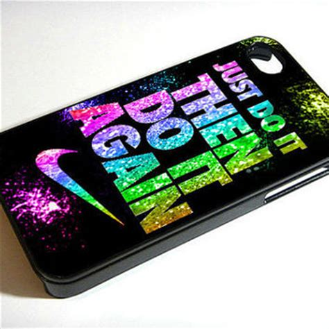 Iphone 4 4s Nike Orange Hardcase just do it then do it again nike 2 7055 from accessories4yu on