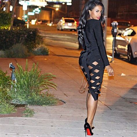 Premium Herve Leger Black Skirt Bodycon Bandage dress it wear it black black dress black dress midi midi dress cut out cut