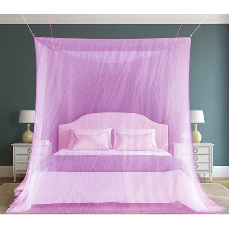 purple canopy bed curtains mosquito net fly insect bug protection mesh bed canopy