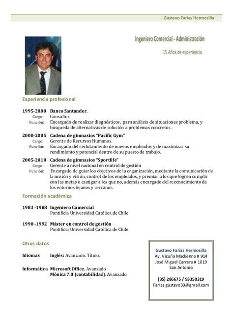 Modelo De Un Curriculum Vitae Funcional Cronologico Curriculum Vitae Modelo1 Verde