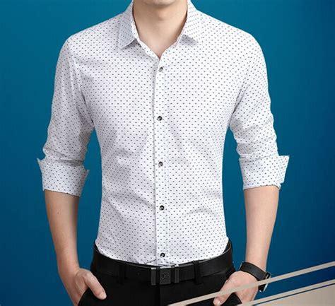 pattern men s dress shirt mens dress shirt polka dot pattern plus size m 4xl 5xl