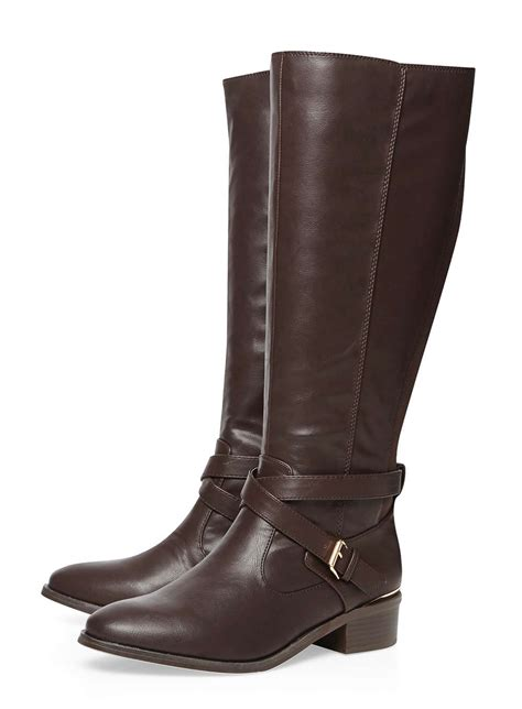 wide fit chocolate brown knee boots dorothy perkins