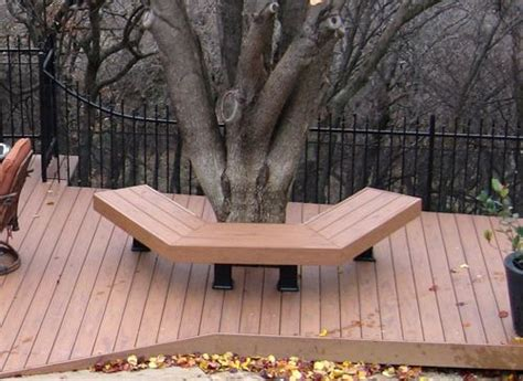 square wrap  tree bench plans bench  trees