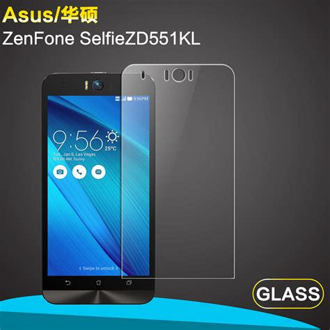 Tempered Glass Asus Zenfone Selfie Zd551 free shipping 9h high definition premium front tempered glass screen protective for asus