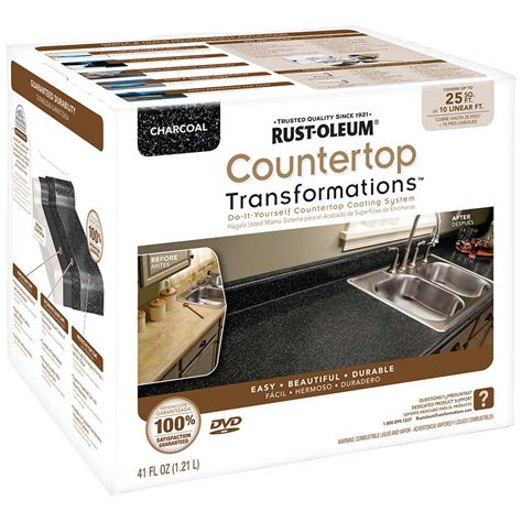 Countertop Coating Reviews by Shop Rust Oleum Countertop Transformations Charcoal Semi