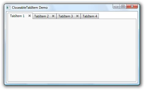 wpf tabcontrol template wpf tabitems with button net software development