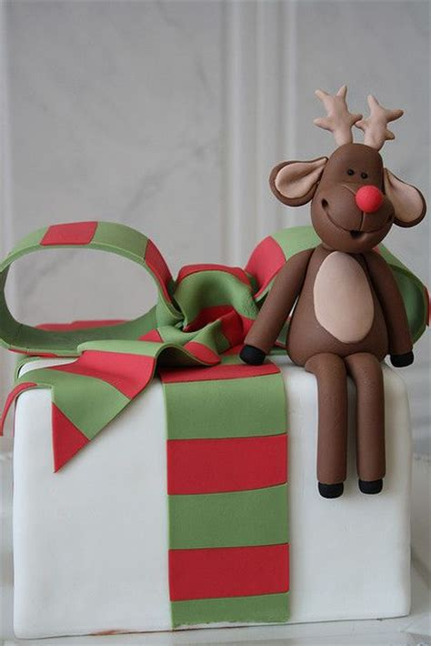 christmas gift box fondant cake cake ideas for 2014 li l white oven