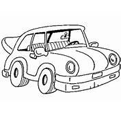 Cute Car Coloring Page  Coloringcom
