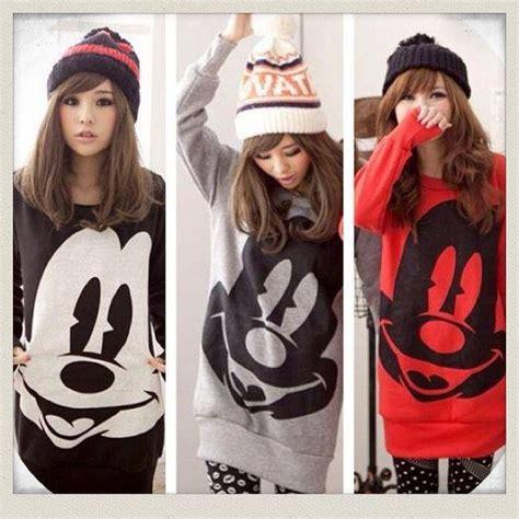 Mickey Katun Sweater Korea Fashion edgy mickey mouse sweatshirt forever21 plus 2000127937