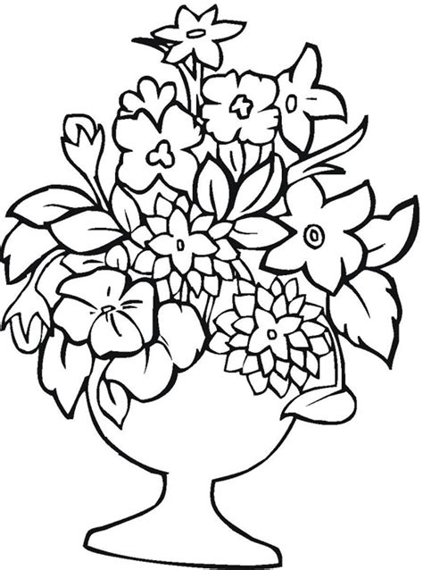 Printable Flowers In Color | free printable flower coloring pages for kids best