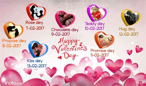 12 valentine day valentine week list 2017 rose day propose day kiss day