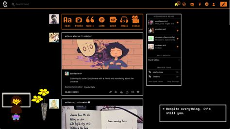 tumblr themes undertale tumblr undertale dashboard theme freestyler ws