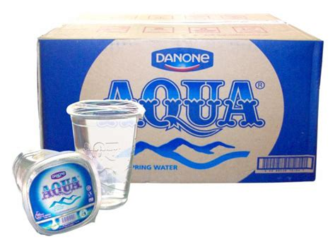 Teh Gelas 1 Dus jual aqua air mineral cup gelas air minum kemasan toko s a