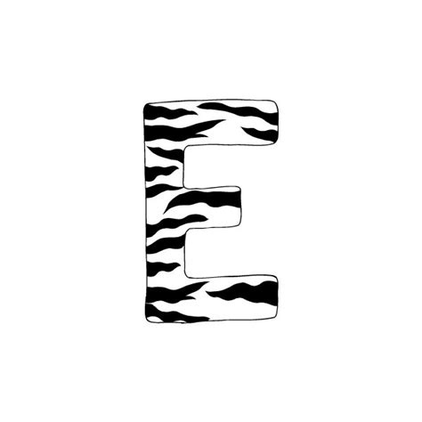 Letter Zebra Lyrics Letter E Zebra Decals Liked On Polyvore Quot E Quot Is For Ella Names Polyvore And Zebras