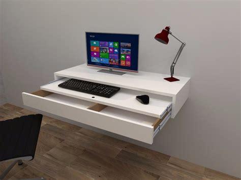 escritorios flotantes para pc foto escritorio flotante con balda y cajon extraible de