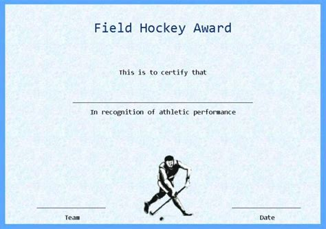 hockey certificate templates field hockey certificate template word hockey