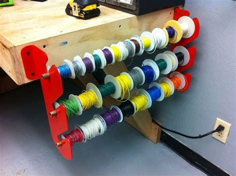 Electrical Wire Spool Rack by How To Make A Wire Rack