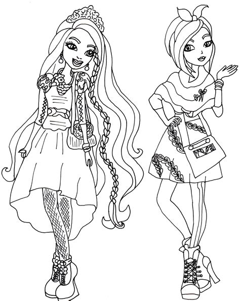 coloring page ever after high free printable ever after high coloring pages holly and