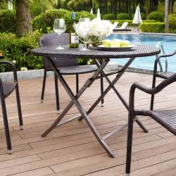 Folding Patio Dining Table Crosley Palm Harbor Outdoor Wicker Folding Table Patio Dining Tables At Hayneedle