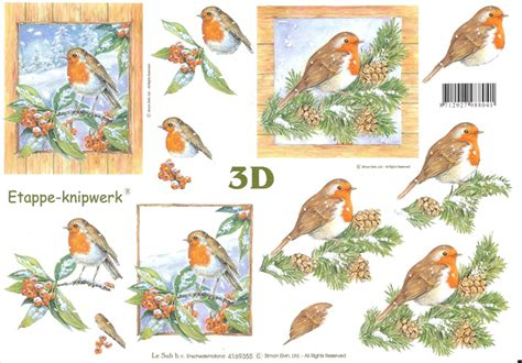 Decoupage 3d - robin designs 3d decoupage sheet