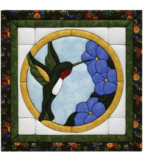 hummingbird quilt magic kit 12 quot x12 quot at joann