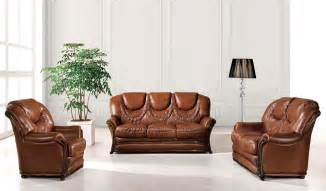 Living Room Sofa Bed Sets 67 Leather Leather Classic 3 Pcs Sets Living Room Furniture